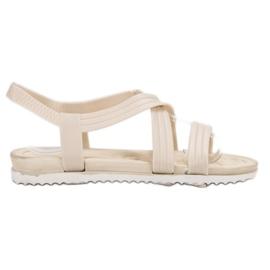 SHELOVET Sandalias de goma deslizantes blanco
