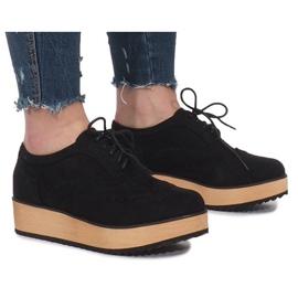 Zapatos Negros En Plataforma Danielle