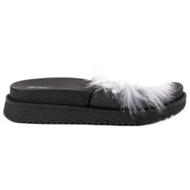 SHELOVET Zapatillas Con Piel blanco