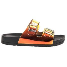 Ideal Shoes amarillo Zapatillas Con Hebilla Holo