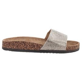 Bona gris Zapatillas Con Suela De Corcho