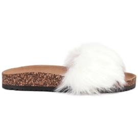Bona blanco Zapatillas Con Piel
