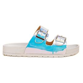 Ideal Shoes gris Zapatillas Con Hebilla Holo