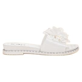 Kayla blanco Zapatillas de goma blancas