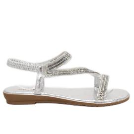 Sandalias asimétricas plata plata KM-33 gris