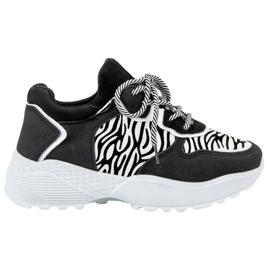 SHELOVET Zapatillas de moda de moda con estampado de cebra