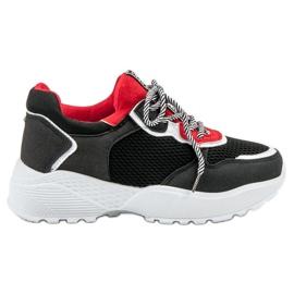 SHELOVET Zapatillas de deporte negras de moda