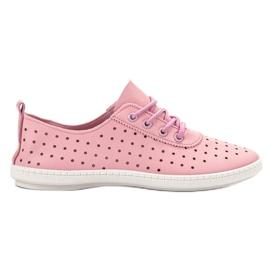 SHELOVET rosa Zapatillas de deporte caladas para mujer