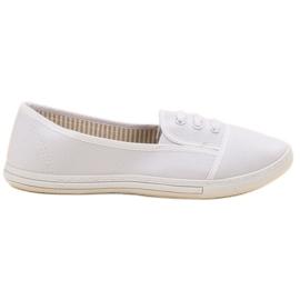 Balada blanco Zapatillas Slip-on