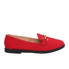 Mocasines mujer rojo 1631-127 rojo