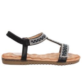 Sandalias negras de mujer HT-67 Black negro