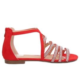 Sandalias mujer rojo LL6339 rojo