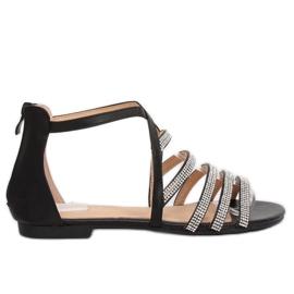 Sandalias negras de mujer LL6339 negras negro