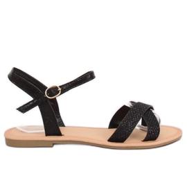 Sandalias de mujer negras y negras WL282 negras negro
