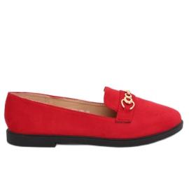 Mocasines mujer rojo 1631-123 rojo