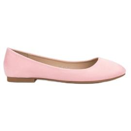 Small Swan Bailarina de gamuza rosa