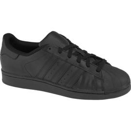 Negro Zapatillas Adidas Superstar J Foundation Jr B25724