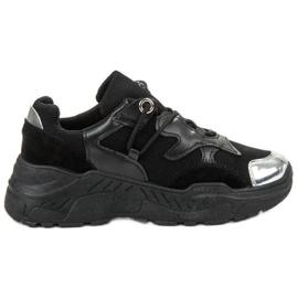Small Swan Zapatillas con cordones negro