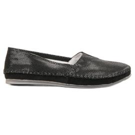 Filippo negro Zapatillas Slipers de Cuero Negras