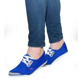 Zapatillas de deporte de lycra con cordones CC8518 Azul