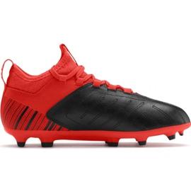 Botas de fútbol Puma One 5.3 Fg Ag JR105657 01 rojo negro