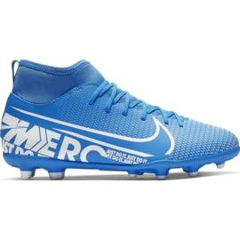 Calzado de fútbol Nike Mercurial Superfly 7 Academy Mds FG MG Jr BQ5409 401 marina azul marino