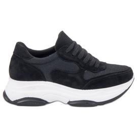 Ideal Shoes negro Zapatillas negras claras