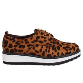 Mocasines para mujer leopard C-7225 Leopard Print marrón