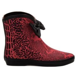 Kylie botas de goma rojo