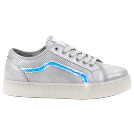 SHELOVET gris Zapatos casuales de las señoras