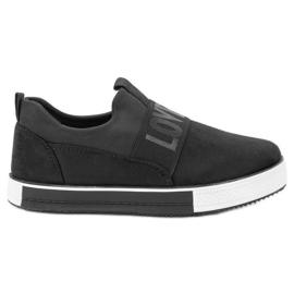 SHELOVET negro Zapatillas de gamuza