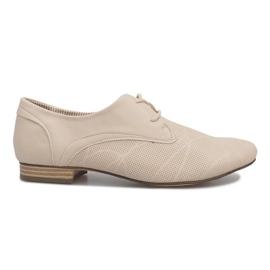 Zapatos beige Jazz Simone marrón