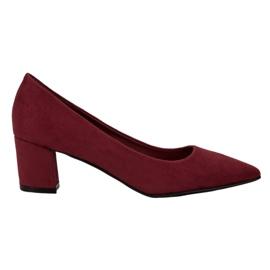 Small Swan Zapatos cómodos de ante rojo