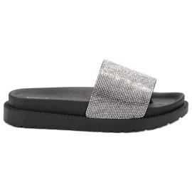 SHELOVET negro Zapatillas Con Cristales