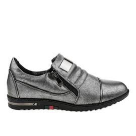 Zapatos grises con cremallera H034