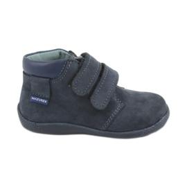 Zapatillas de niño con velcro Mazurek 341 azul marino marina