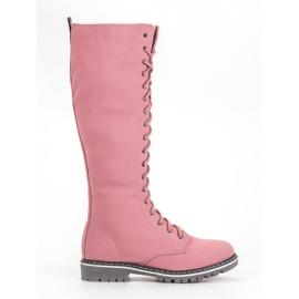 Seastar rosa Botas de mujer con cordones