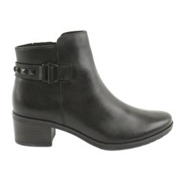 Negro Caprice 25433 botas negras con tachuelas negras