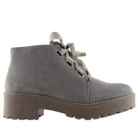 Botas zapatos de mujer gris LL219 gris