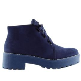 Marina Botas zapatos de mujer azul oscuro LL219 Azul