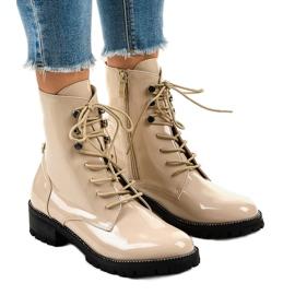Botas altas de mujer color beige XW37278 marrón