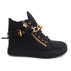 Zapatillas altas acolchadas R-35 negro