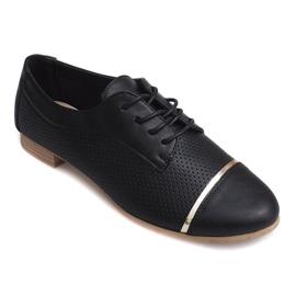 Zapatos bajos de calado Jazz para mujer 6-154 negro