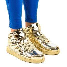Zapatillas Lacadas Doradas XW7082 amarillo