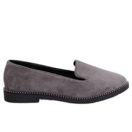 Señores grises mocasines grises N90 Gris