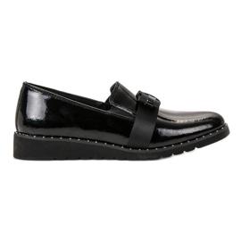 Filippo negro Zapatos de cuero sin cordones