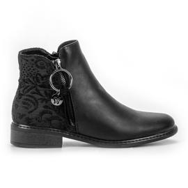 Filippo negro Elegantes botas de cremallera