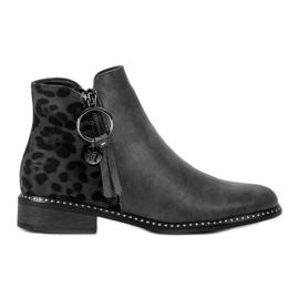 Filippo gris Elegantes botas de cremallera