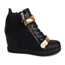 Zapatillas de deporte con cuña Sheet A89 Black negro