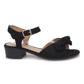 Sandalias de tacón negro Noemia